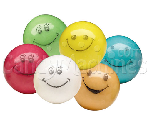 Bulk Vending Smiles Bubble Gum Assorted Color Gumballs - 1430 ct.