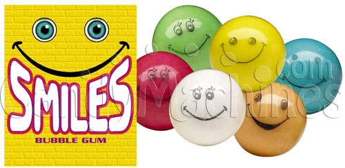Smiles Assorted Color Gumballs - 1430 ct.