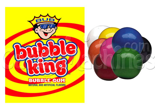Bubble King Solid Color Assorted Gumballs - 1430 ct. Gumballs