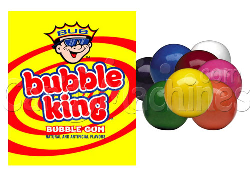 Bubble King Solid Color Assorted Gumballs - 1900 ct.