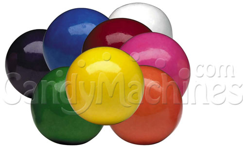 Bulk Vending Bubble King Assorted Solid Color Gumballs - 1900 ct.