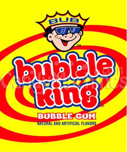 Bubble King Assorted Solid Color Gumballs Vending Display Card