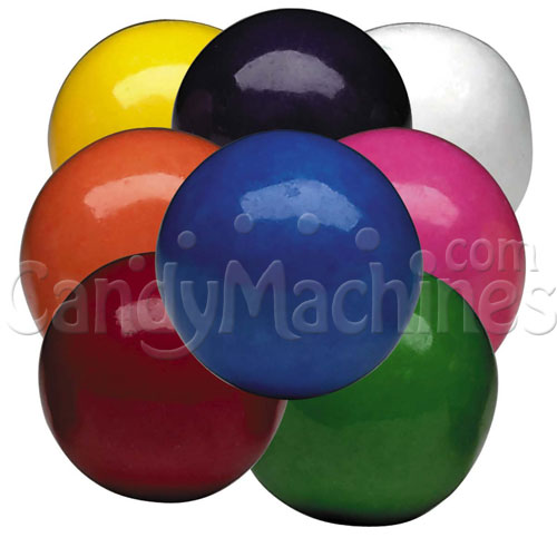 Bulk Vending Bubble King Assorted Solid Color Gumballs - 3650 ct.