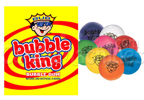 Bubble King Solid Color Assorted Gumballs - 600 ct.