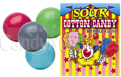 Sour Cotton Candy Bubble Gum Gumballs
