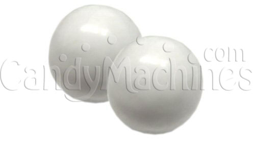 Solid White Color Gumballs - 850 ct.