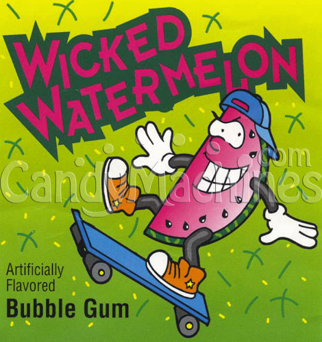 Wicked Watermelon Bubble Gum Vending Display Card