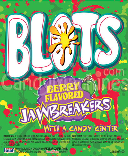 Blots Gum Center Berry Flavored Jawbreakers Vending Display Card