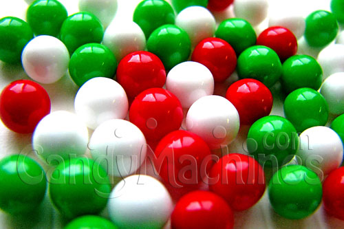 Red White Green Mix Mini Jawbreakers by the Pound