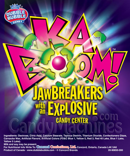 Bulk Kaboom Sour Candy Center Jawbreakers Vending Display Card