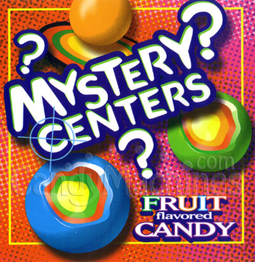 Mystery Centers Jawbreakers Bulk Vending Display Card