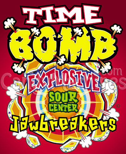 Bulk Vending Time Bomb Sour Center Jawbreakers Vending Display Card