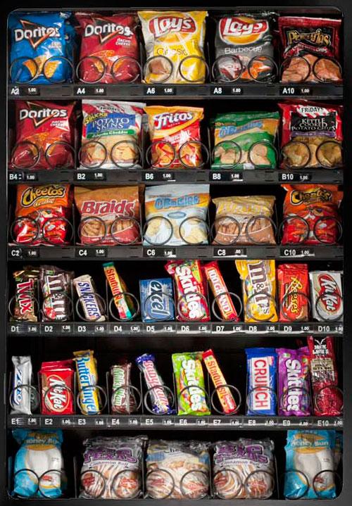 gluten free vending machine snacks