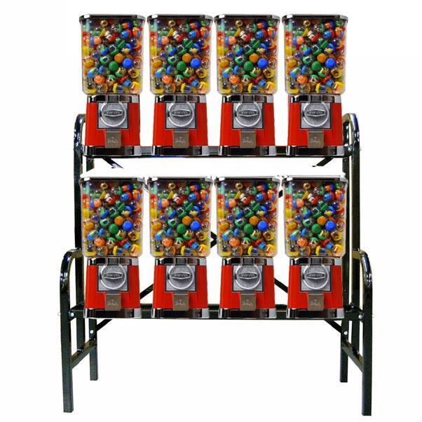Blue Body /& Red Trim Gumball Bouncy Capsule Vending Machine $0.25 Capsule Bouncy Ball Gumball Vending Dispenser Machine