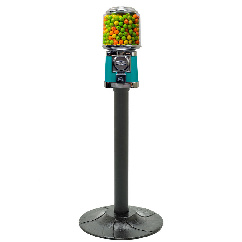 Round Beaver Single Gumball Machine with Stand