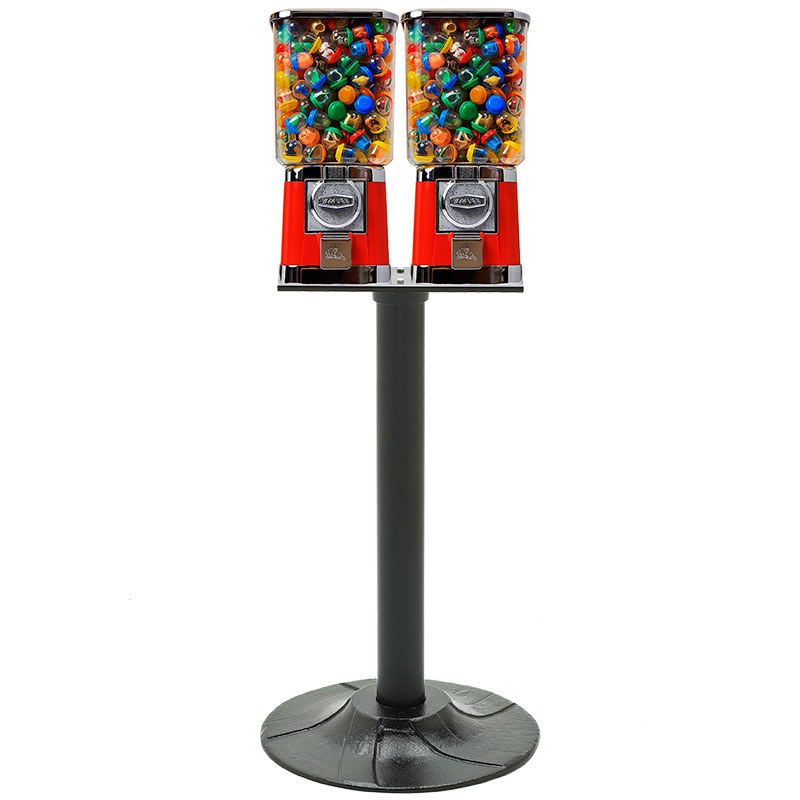 Square Beaver Double Gumball Machine with Stand