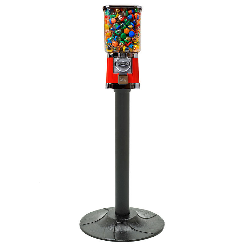 Square Beaver Single Gumball Machine with Stand