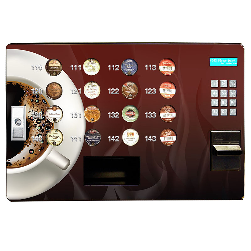 Seaga SS16 Cashless K-Cup Coffee Vending Machine with Credit Card Reader