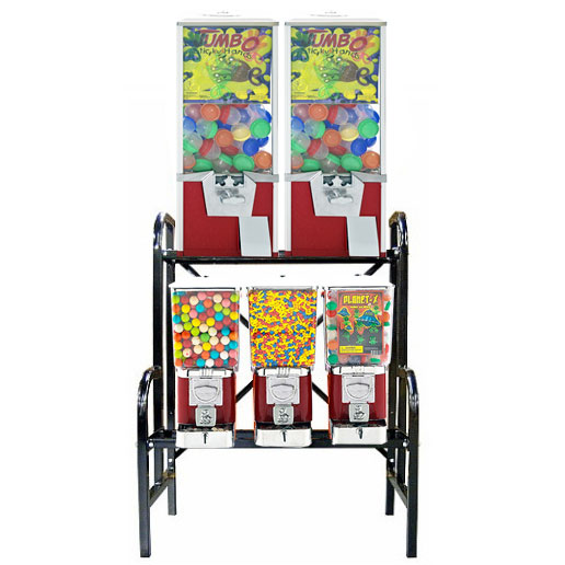 5 Unit Toy Vending Rack Combo