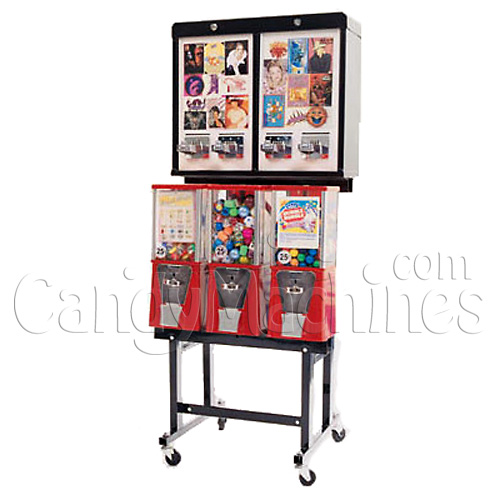 6 Way Combo Sticker Tattoo Gumball and Candy Vending Machines