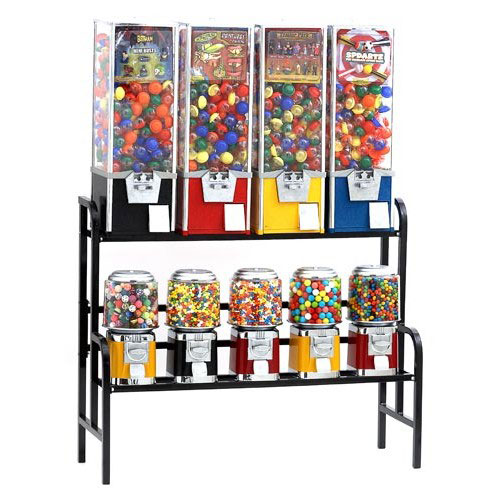 Rhino 9 All Metal Unit Toy & Candy Vending Machine Combo