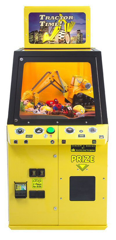 Tractor Time Crane Toy and Candy Vending Machine