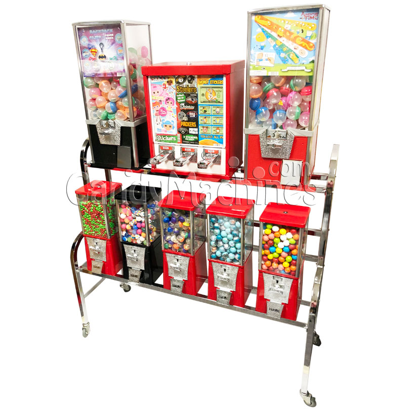 Eagle 10 Way Sticker and Tattoo Toy Bulk Vending Rack Right