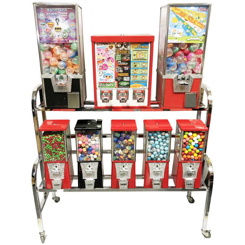 Eagle 10 Way Sticker and Tattoo Toy Bulk Vending Rack