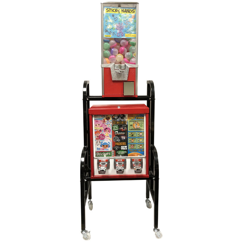 Eagle 3 Unit Sticker and Tattoo Toy Vending Rack