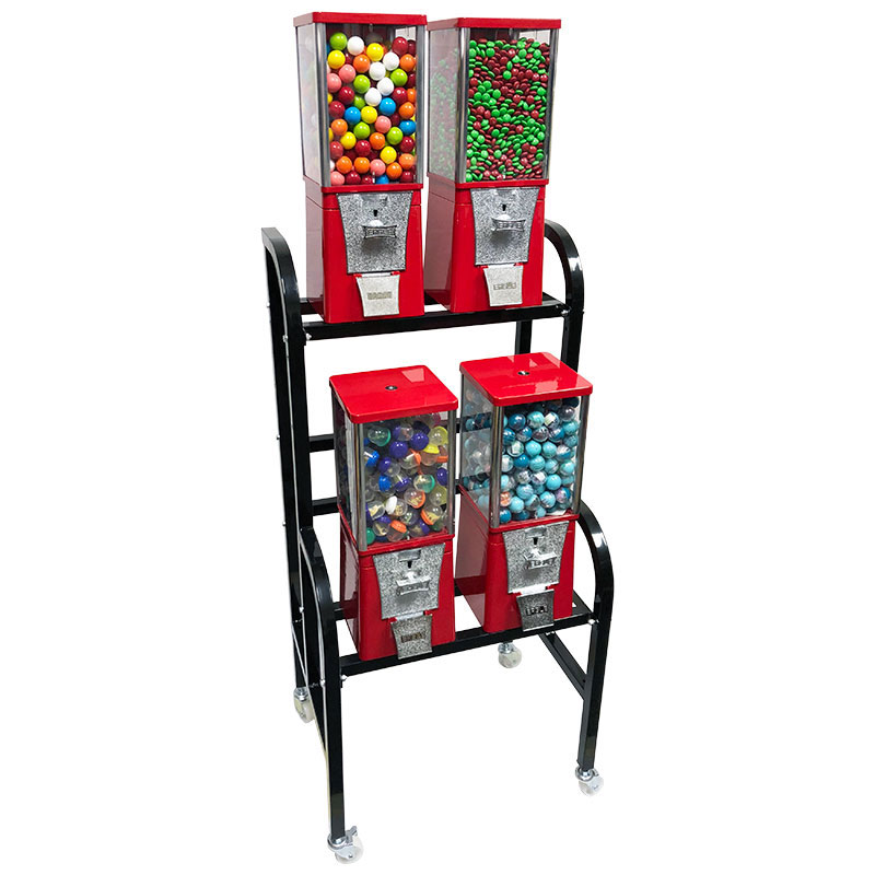 Eagle 4 Unit Gumball and Candy Bulk Vending Rack Left