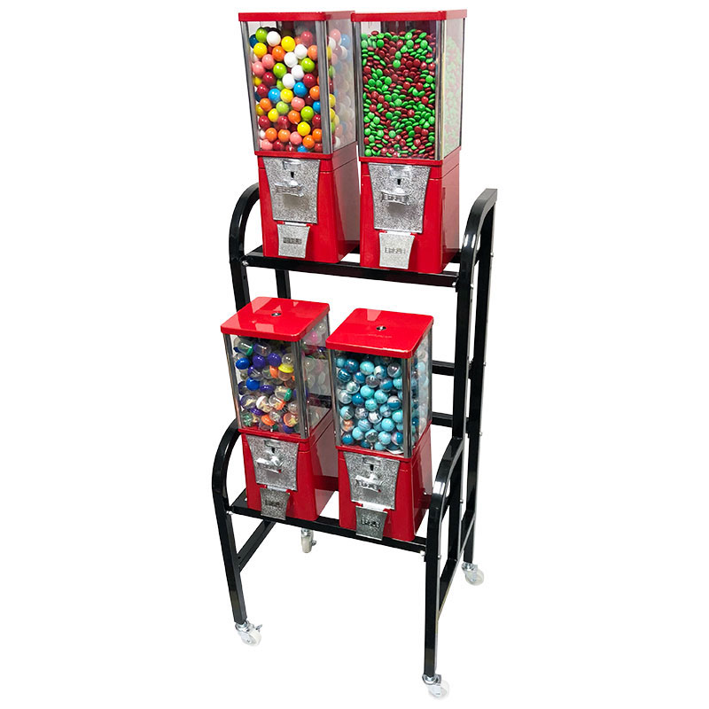 Eagle 4 Unit Gumball and Candy Bulk Vending Rack Right