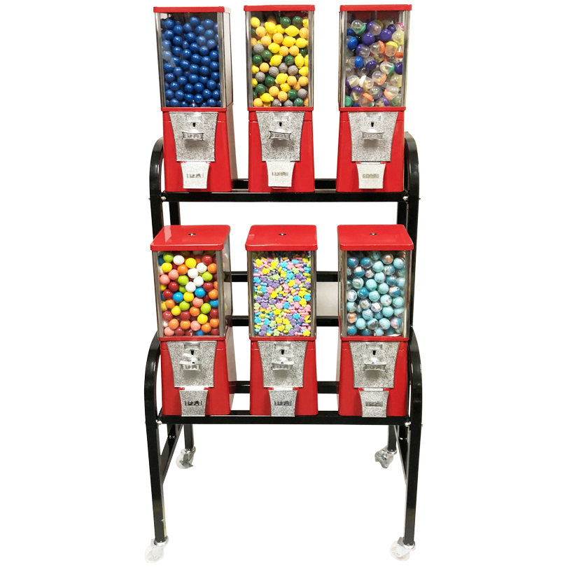 Eagle 6 Unit Gumball and Candy Bulk Vending Rack