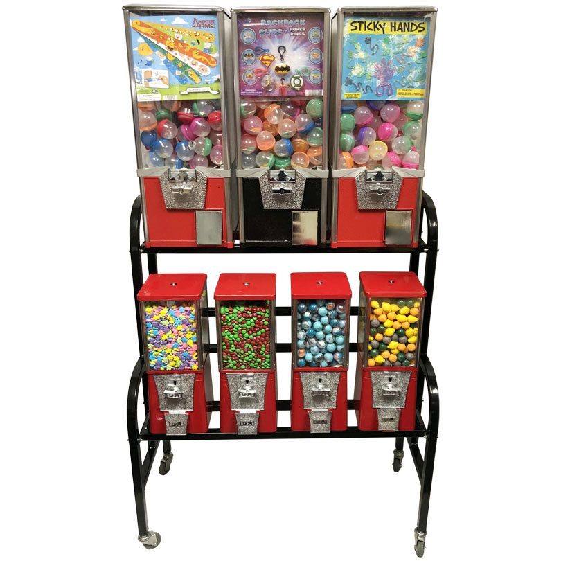 Eagle 7 Unit Toy Bulk Vending Rack