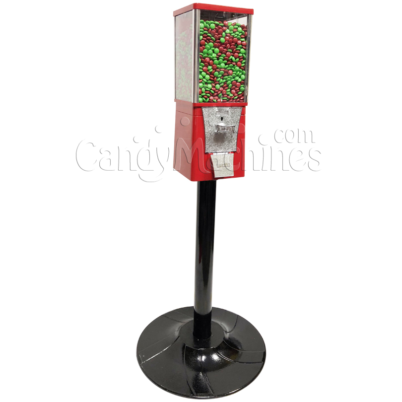 Eagle Metal Candy Bulk Vending Machine with Stand Left Side