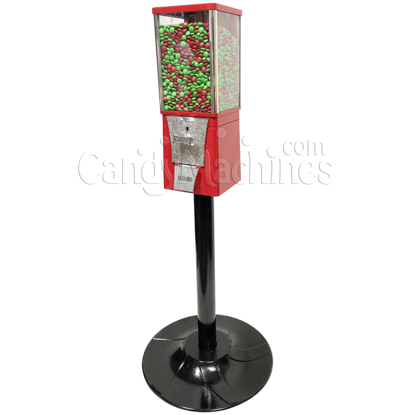 Eagle Metal Candy Bulk Vending Machine with Stand Right Side