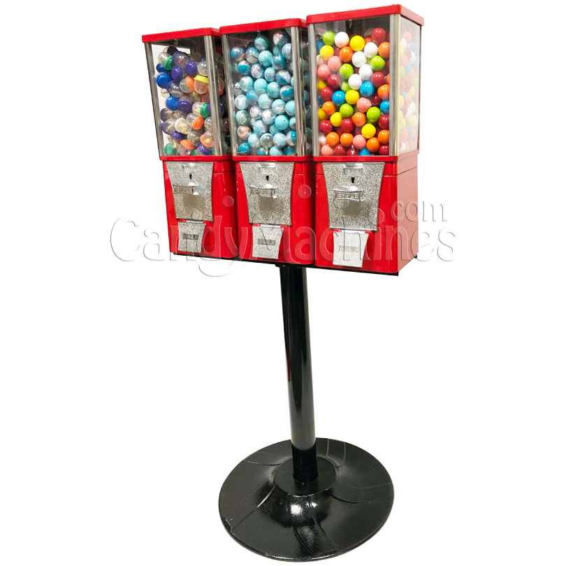 Eagle Three Head Candy Bulk Vending Machine with Stand Right Side