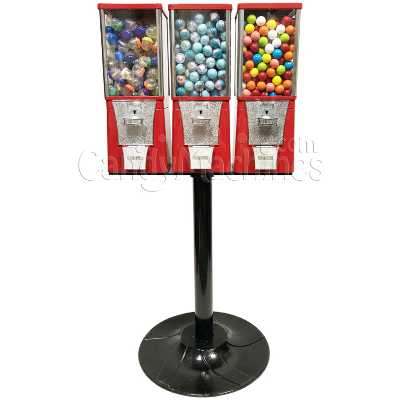 Eagle Three Head Candy Bulk Vending Machine with Stand