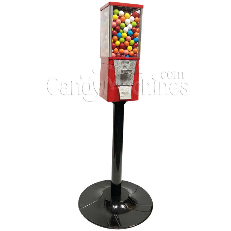 Eagle Metal Gumball Bulk Vending Machine with Stand Left Side