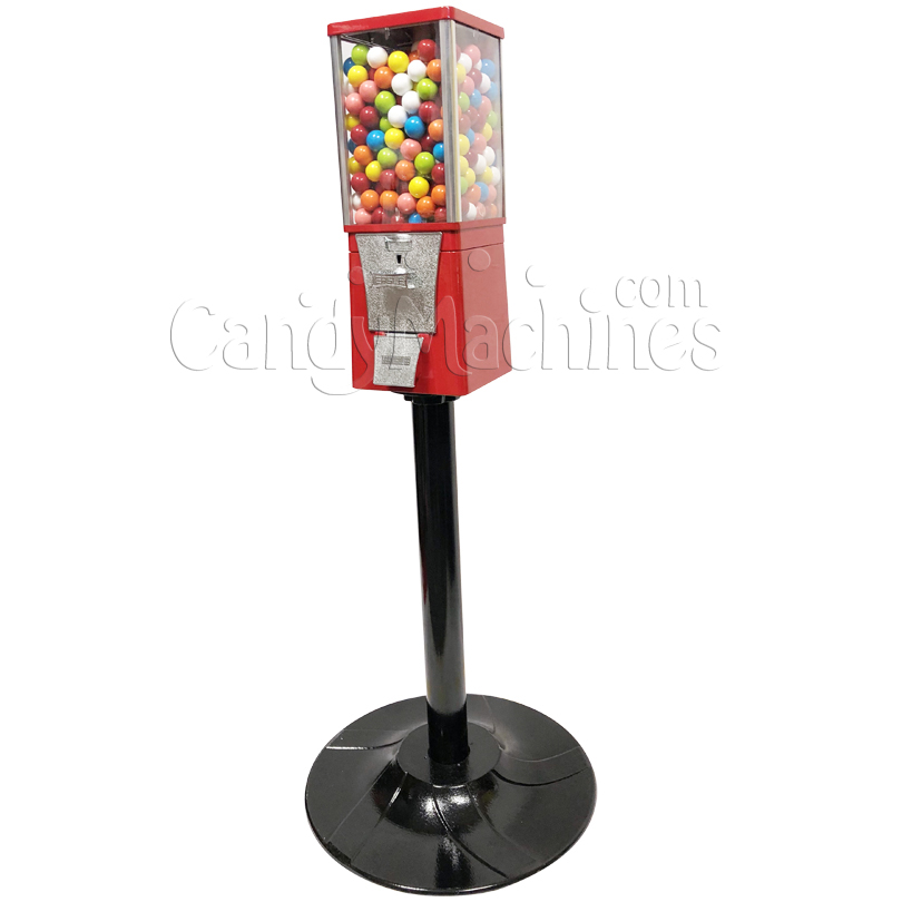 Eagle Metal Gumball Bulk Vending Machine with Stand Right Side