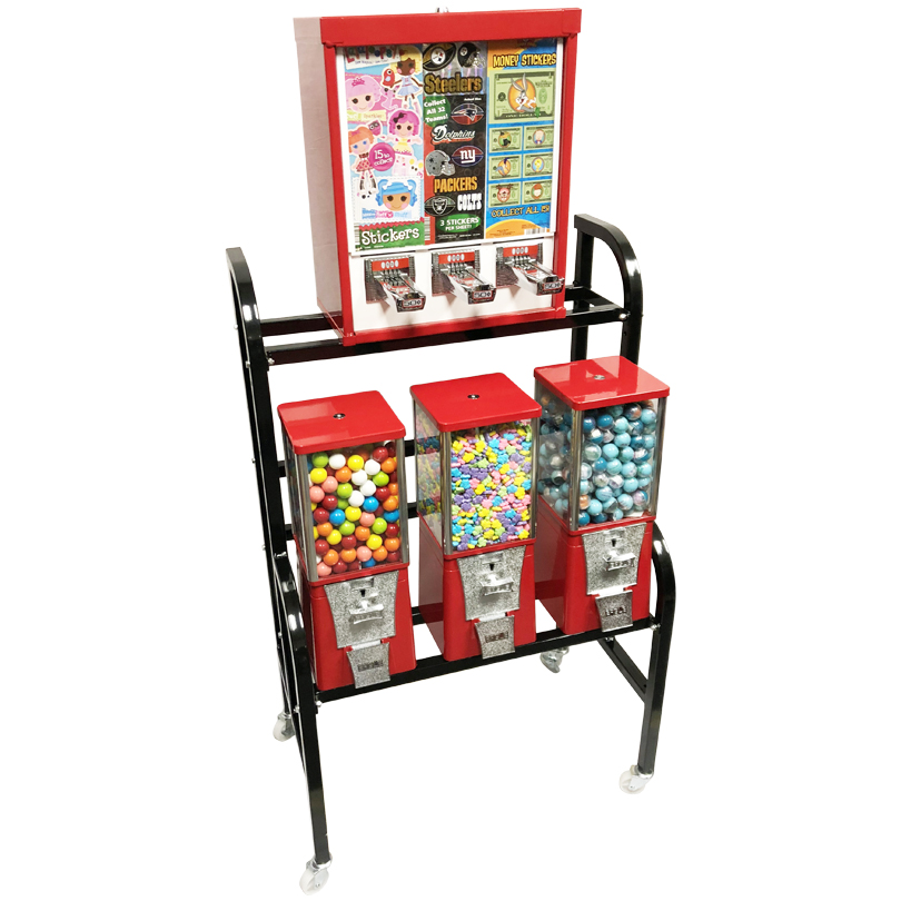 Eagle Sticker and Tattoo Bulk Vending Rack - 4 Unit Left