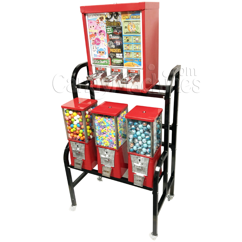Eagle Sticker and Tattoo Bulk Vending Rack - 4 Unit Right