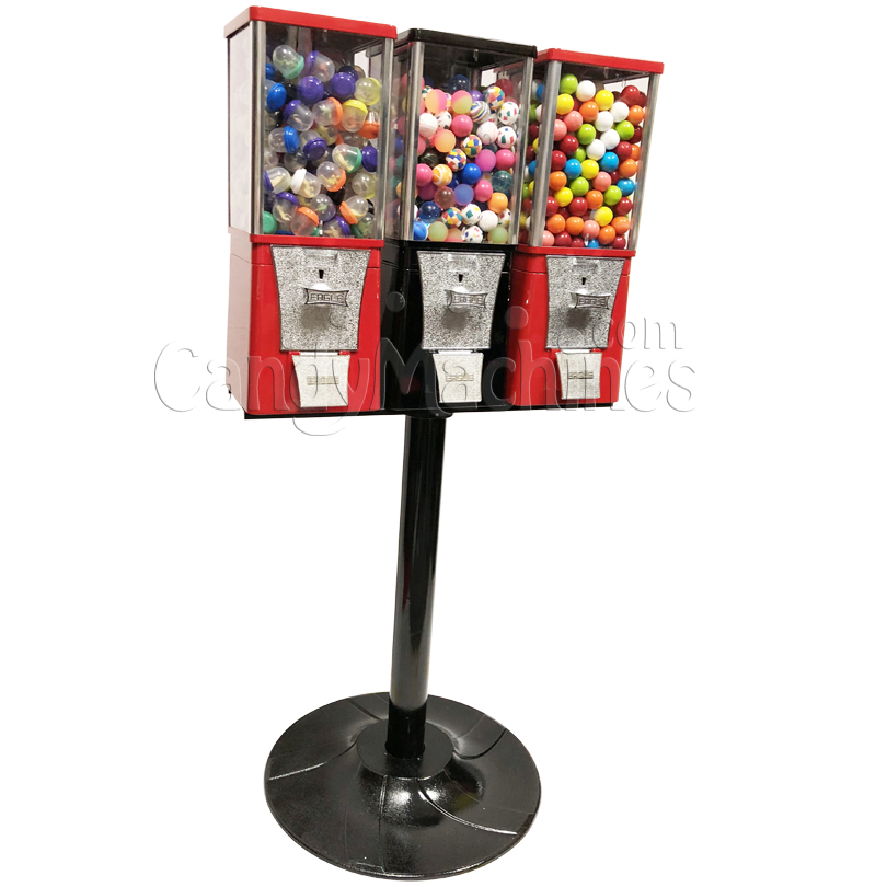Eagle Three Head Toy Capsule Bulk Vending Machine with Stand Left Side