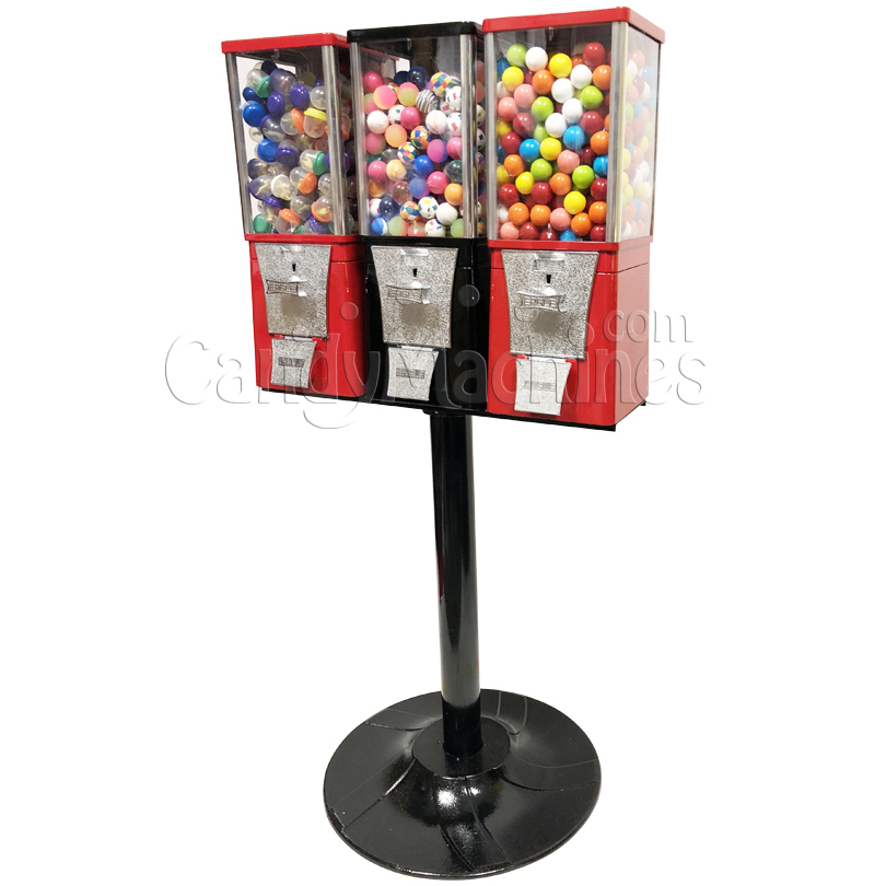 Eagle Three Head  Toy Capsule Bulk Vending Machine with Stand Right Side
