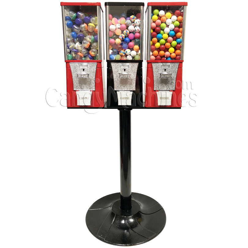 Eagle Three Head Toy Capsule Bulk Vending Machine with Stand