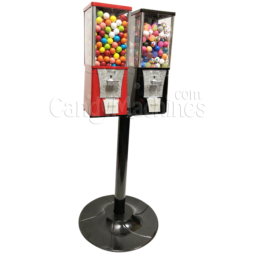 Eagle Two Head Bouncy Balls Bulk Vending Machine with Stand Left Side