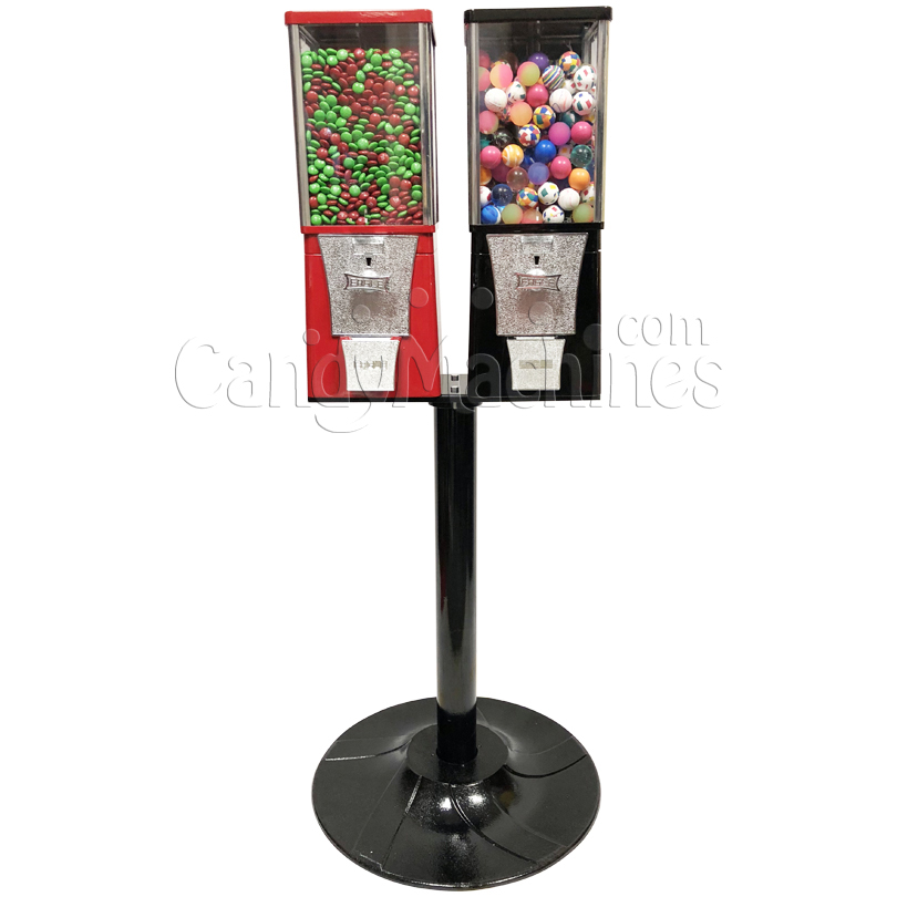 Eagle Two Head Candy Bulk Vending Machine with Stand