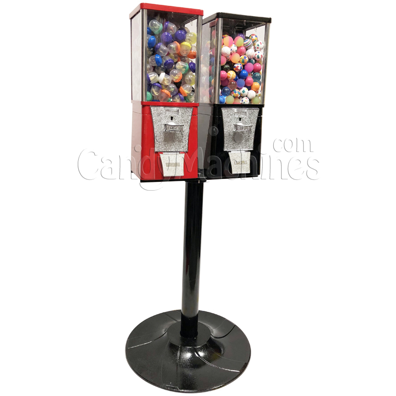 Eagle Two Head Toy Capsule Bulk Vending Machine with Stand Left Side