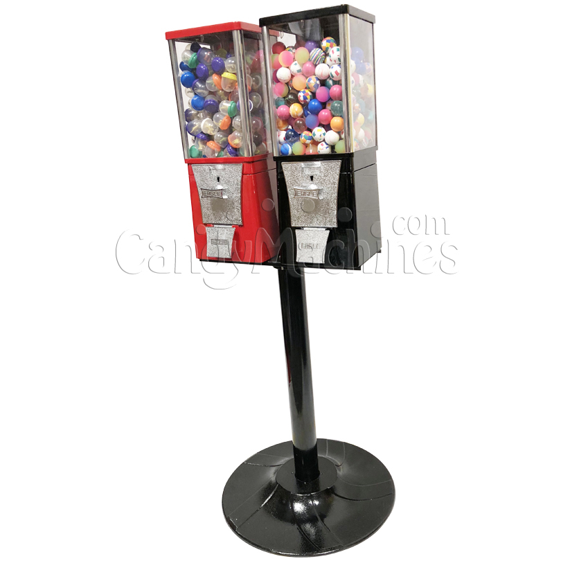 Eagle Two Head  Toy Capsule Bulk Vending Machine with Stand Right Side
