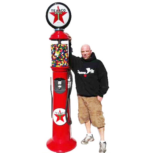 Gas Pump Gumball Machines - 7' 6""