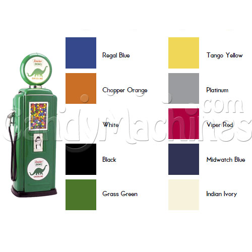 Tokheim 39 Gas Pump Gumball Machine Colors